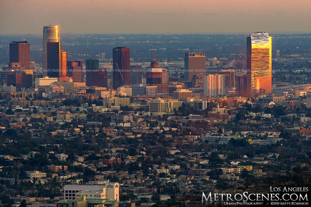 Sunset on the LA Skyline