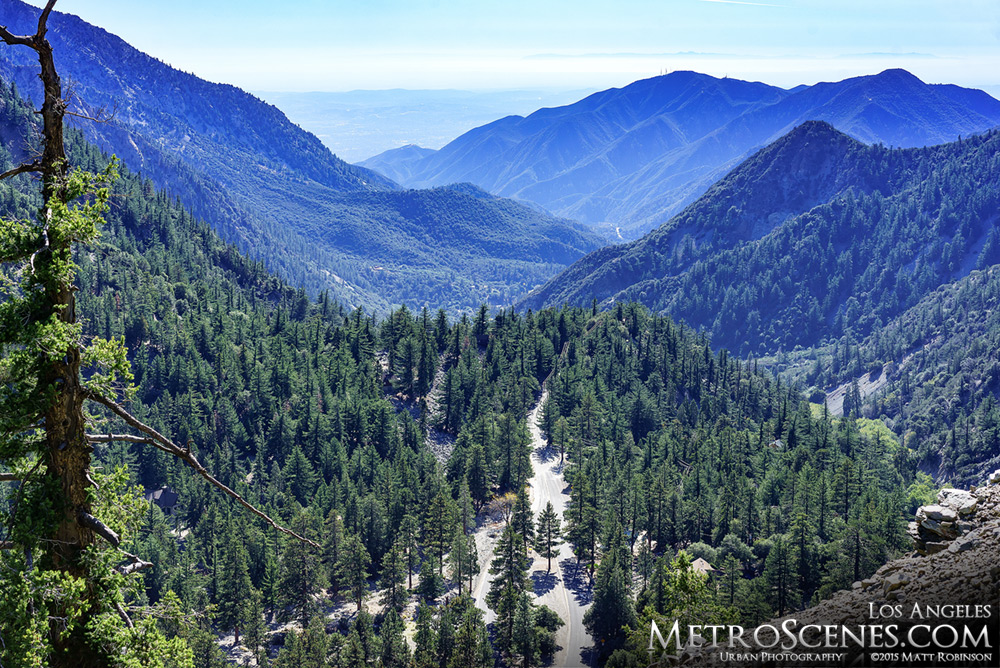 View of San Gabriel Mountains from Mount Baldy Bowl Trail
