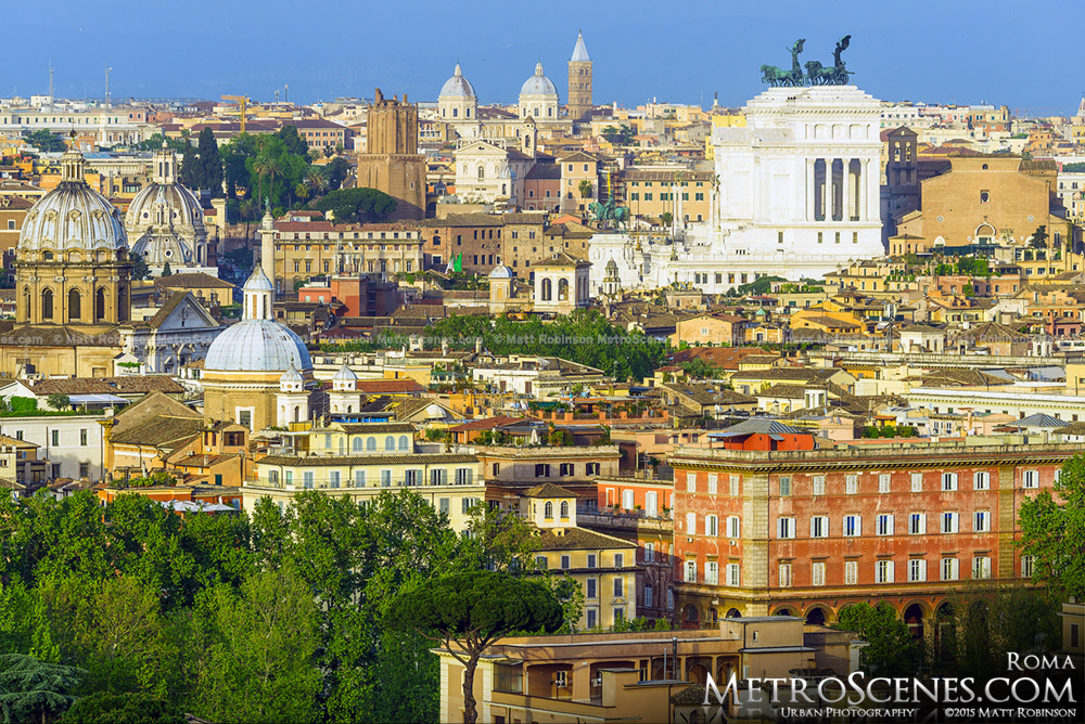 The Rome Skyline from Janiculum