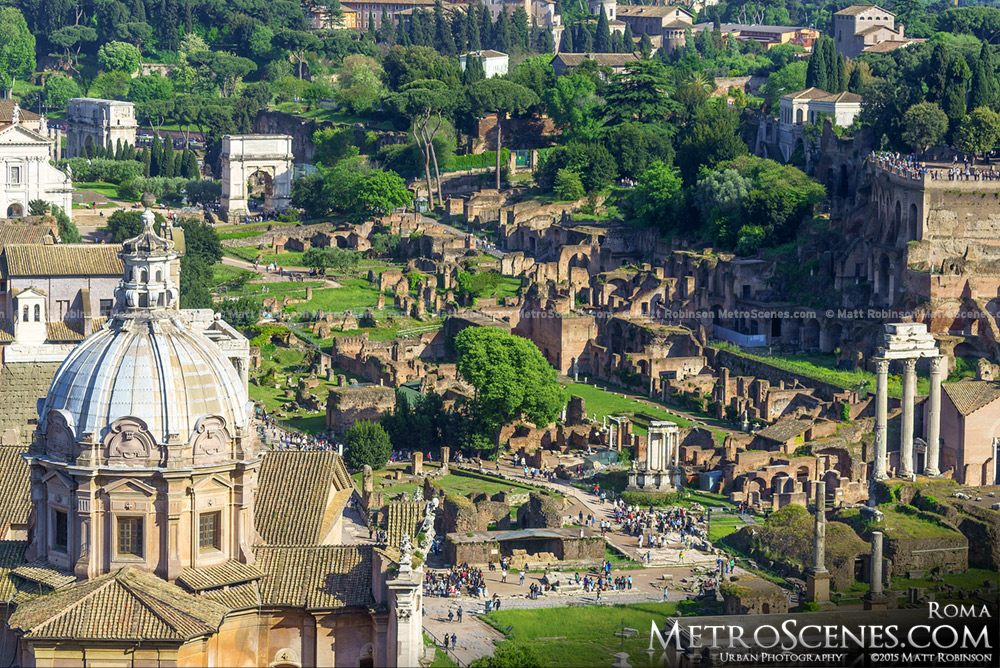 The Forum of Rome from Altare della Patria