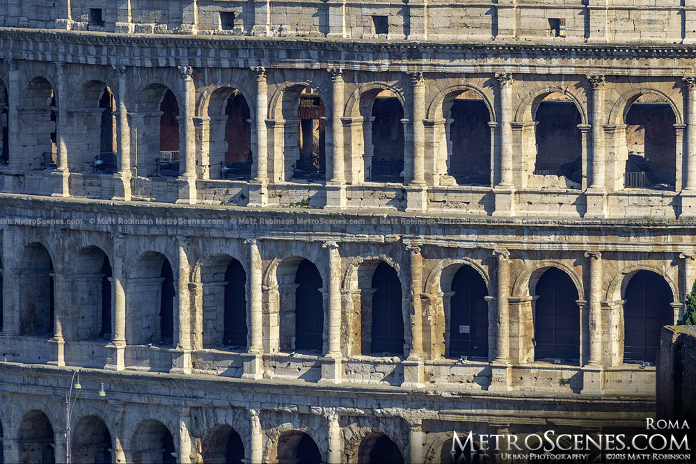 Detail of the Colosseum from the Altare della Patria