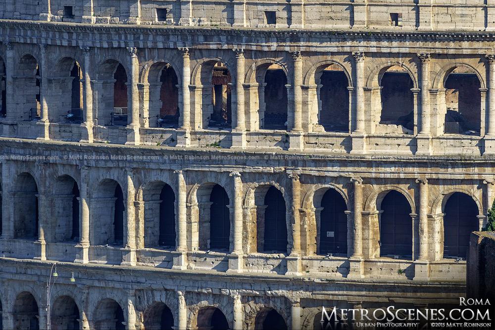 Detail of the Colosseum from the Altare della Patria