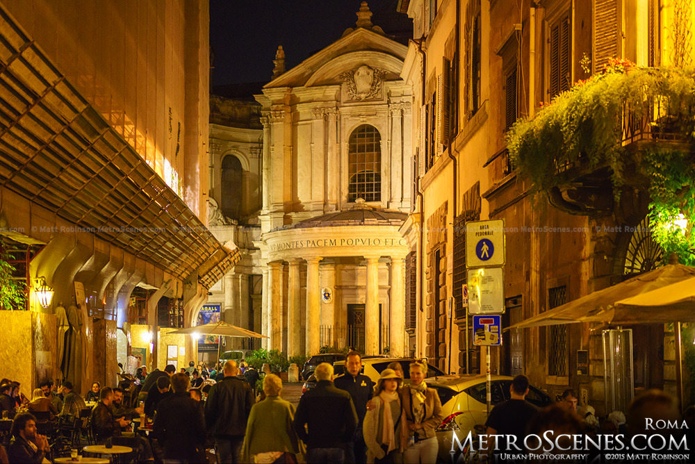 Santa Maria della Pace at night