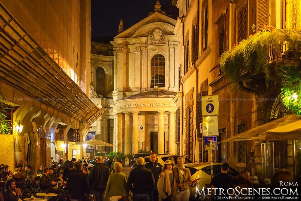 Santa Maria della Pace at night