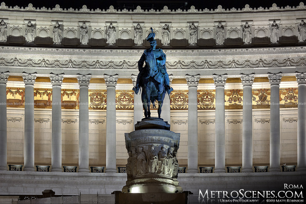 Victor Emmanuel Monument at night