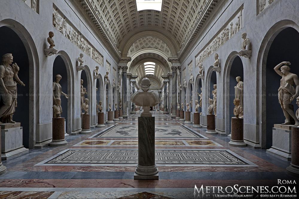 Empty wing of Vatican Museum