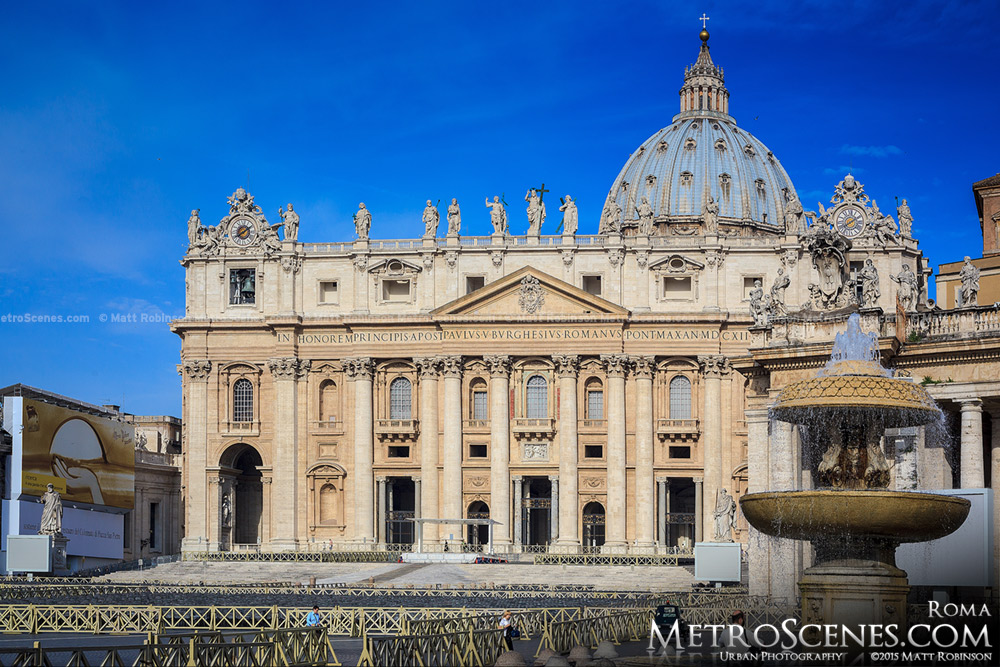 Vatican City Blue Sky