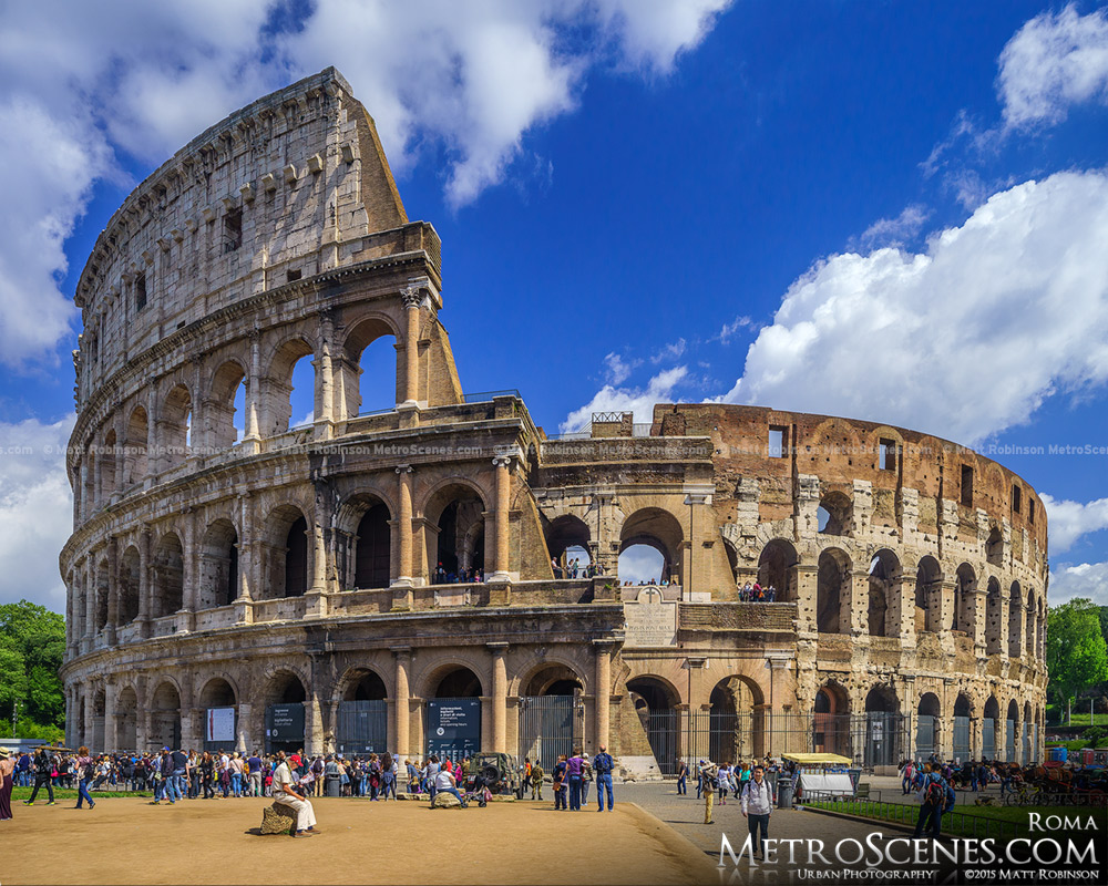 The Colosseum in the daytime