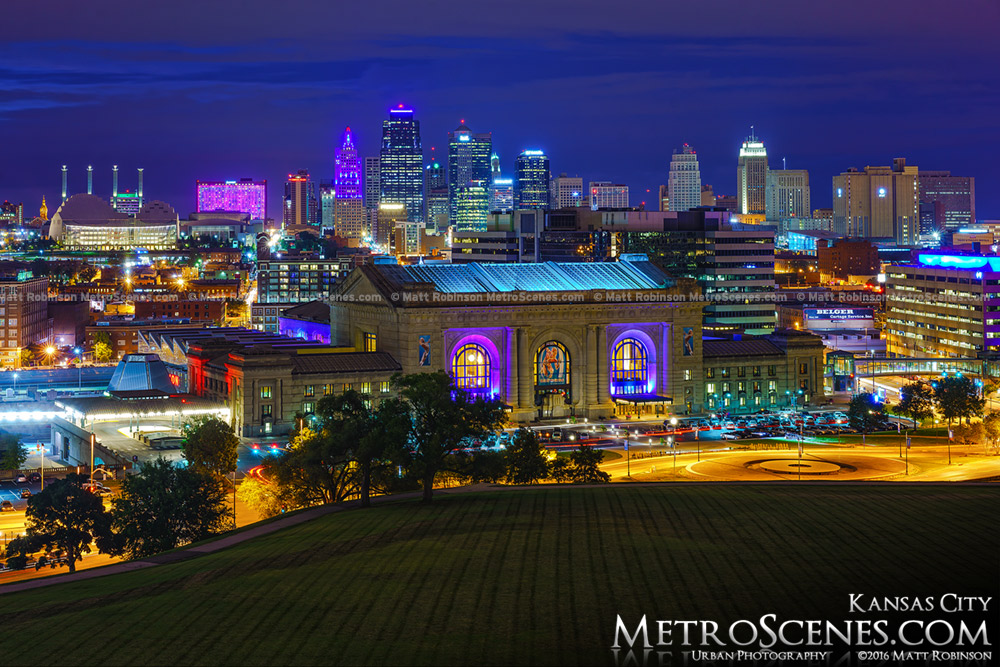 Kansas City Skyline from World War One Monument