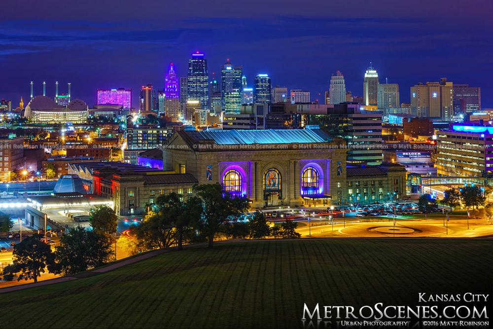 Kansas City Skyline from World War One Monument