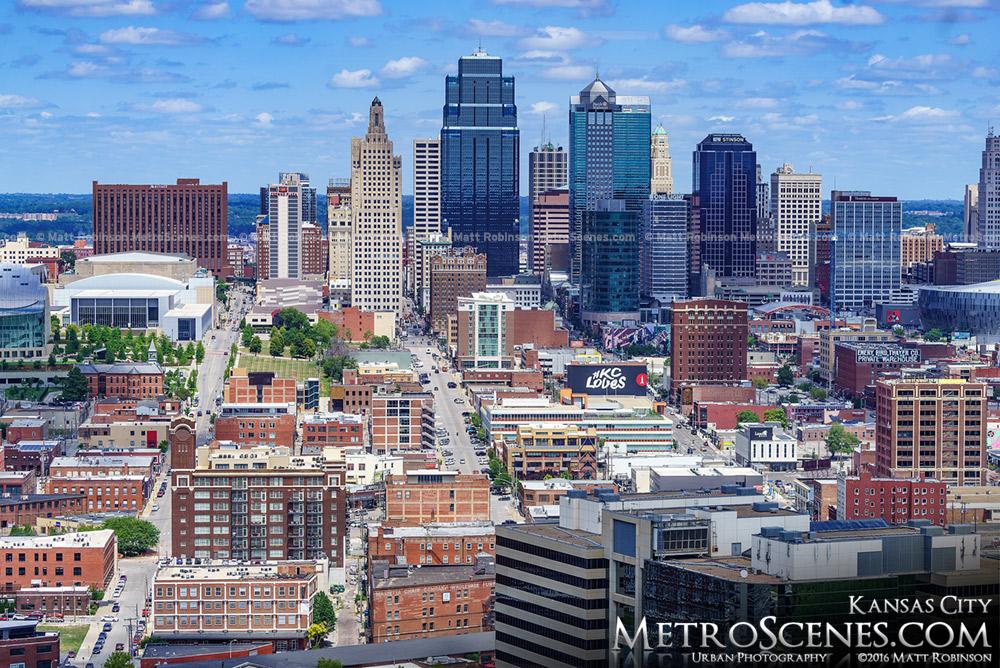 Kansas City City scape from WW1 Memorial Tower
