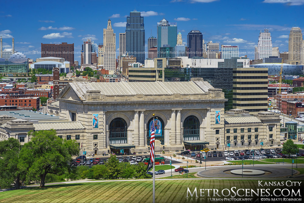 Kansas City Union Station with Skyline