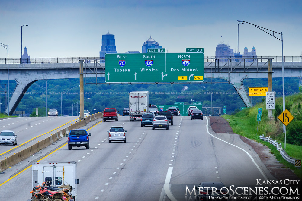 Interstate 70 with KCMO Skyline