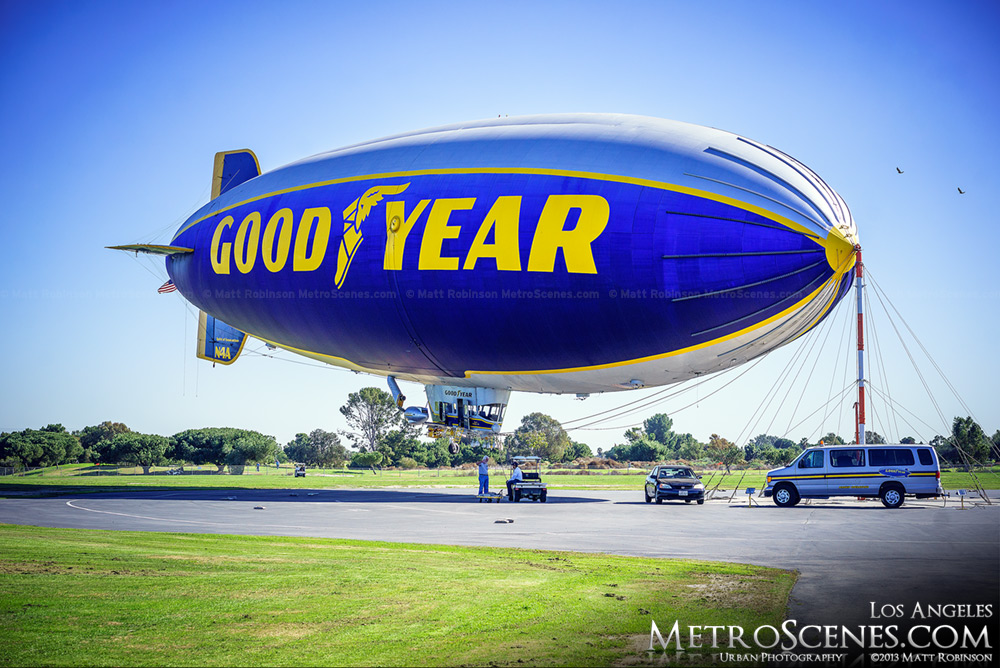 Goodyear blimp Los Angeles
