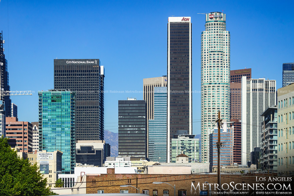 US Bank Tower and Aon Building Los Angeles
