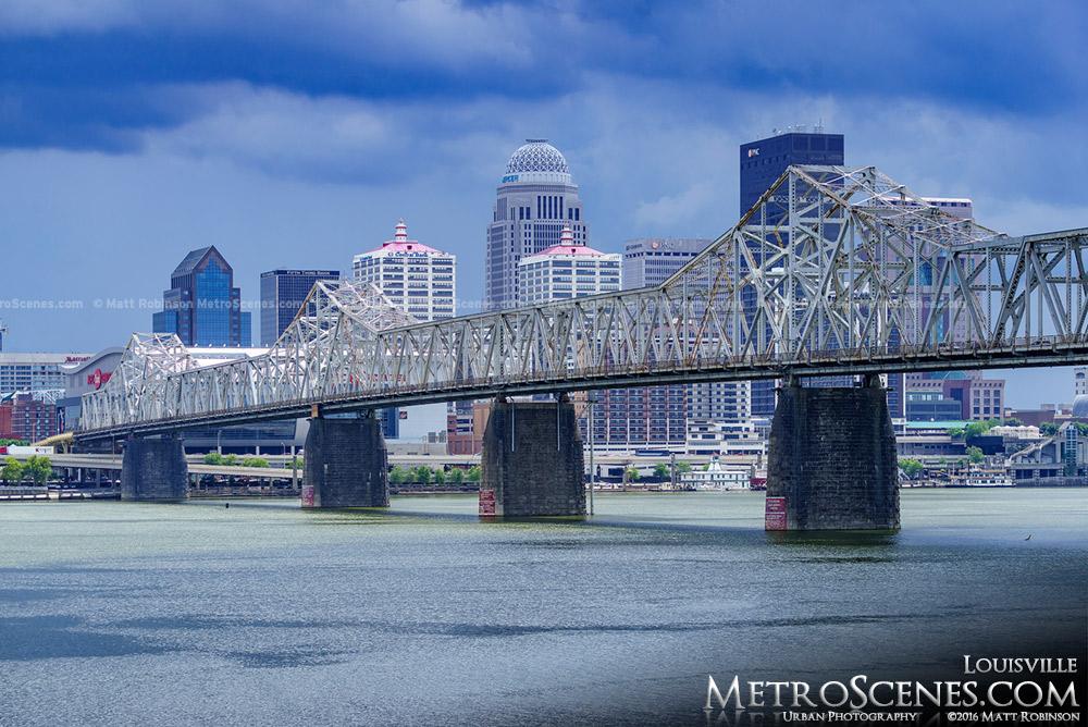 Louisville Skyline with George Rogers Clark Memorial Bridge