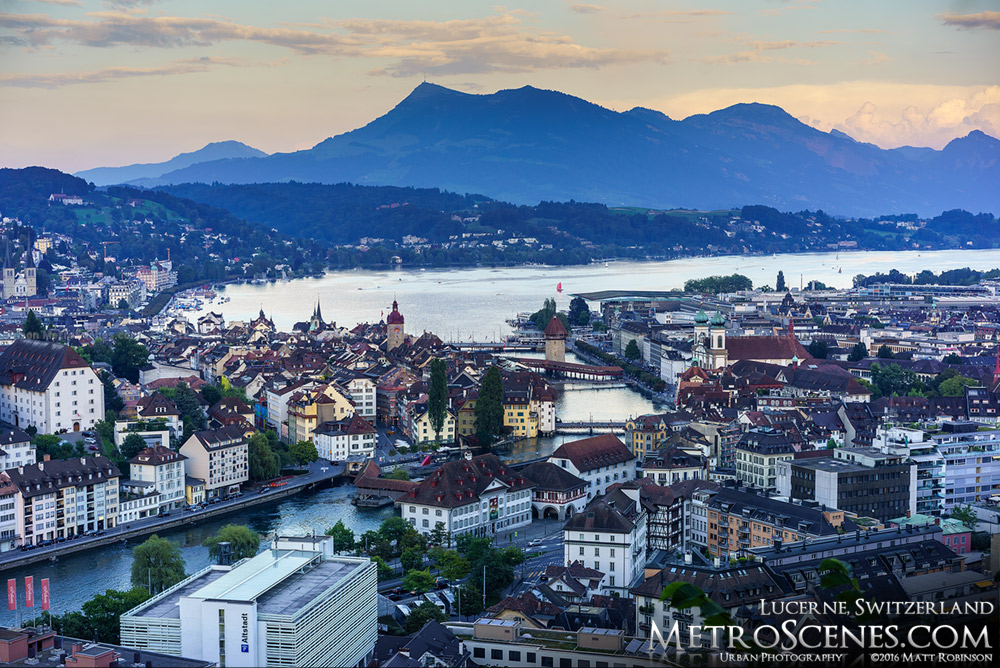 View of Lucerne from Hotel Chateau Gütsch