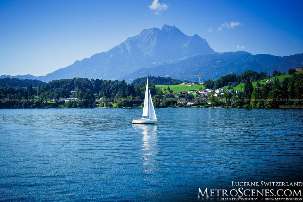 Mt. Pilatus with Sailboart