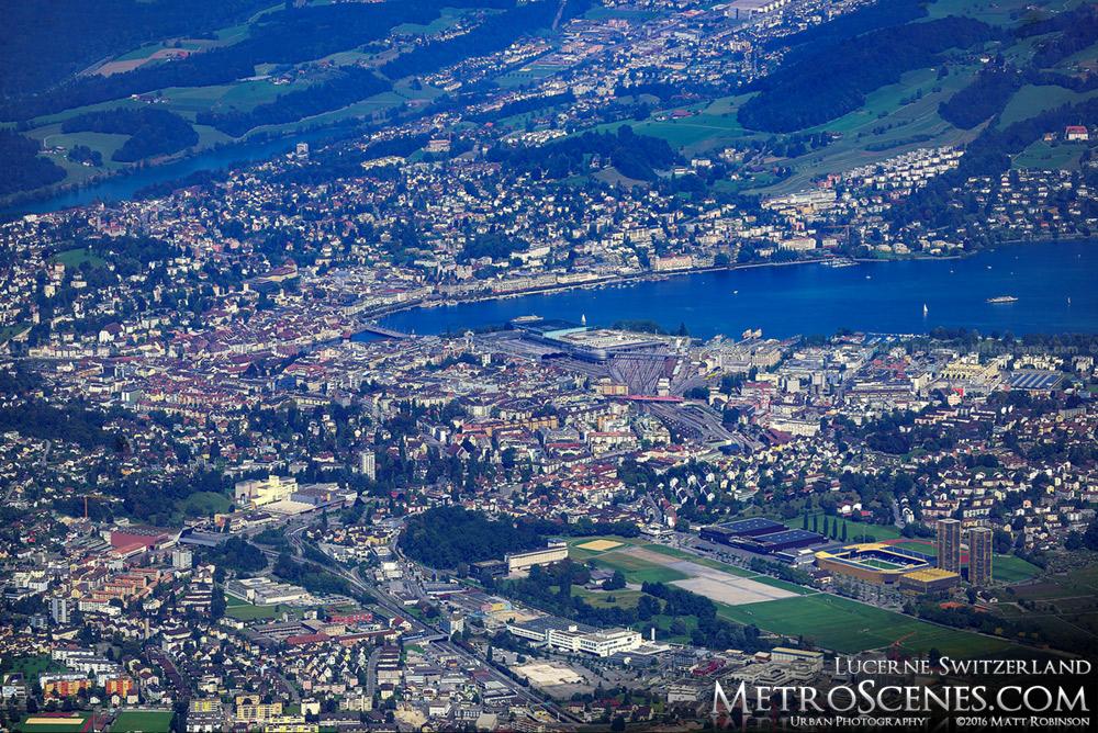 Lucerne, Switzerland from Mount Pilatus