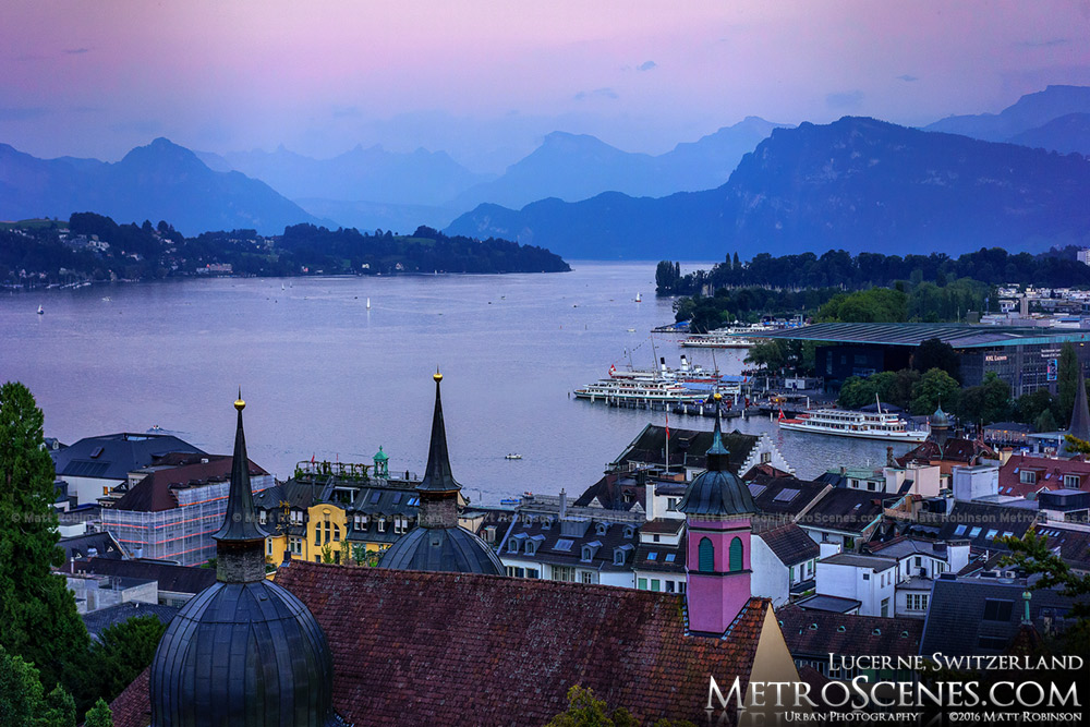 Purple mountains Luzern