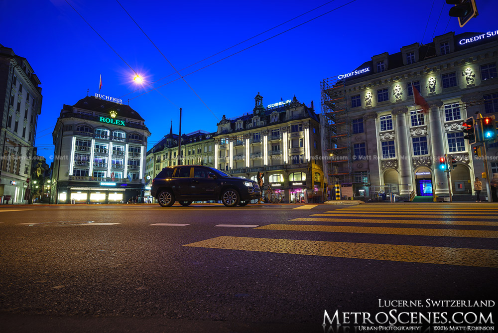 Schwanenplatz Lucerne, Switerland at night