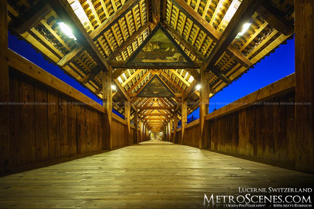 Chapel Bridge interior Lucerne