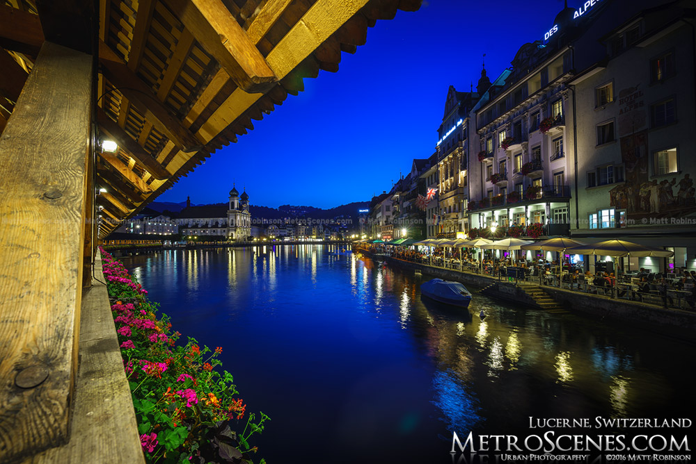 Reuss in Luzern at night