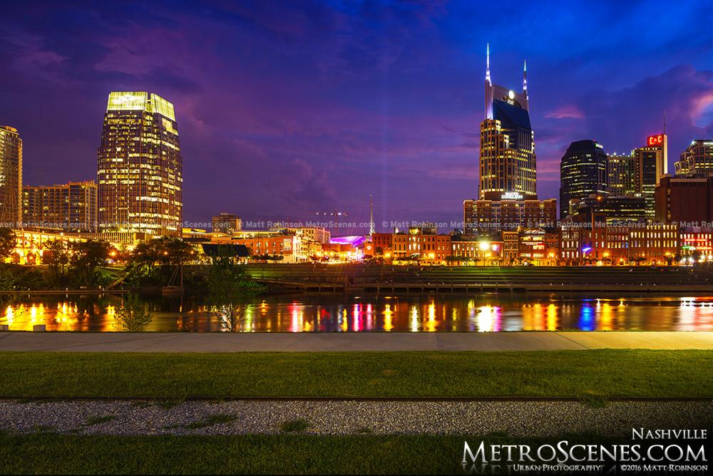 Nashville after dark