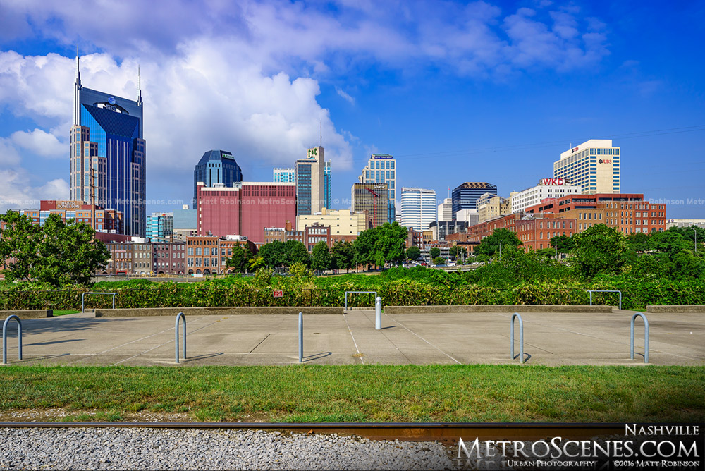 Downtown Nashville from Titans Way