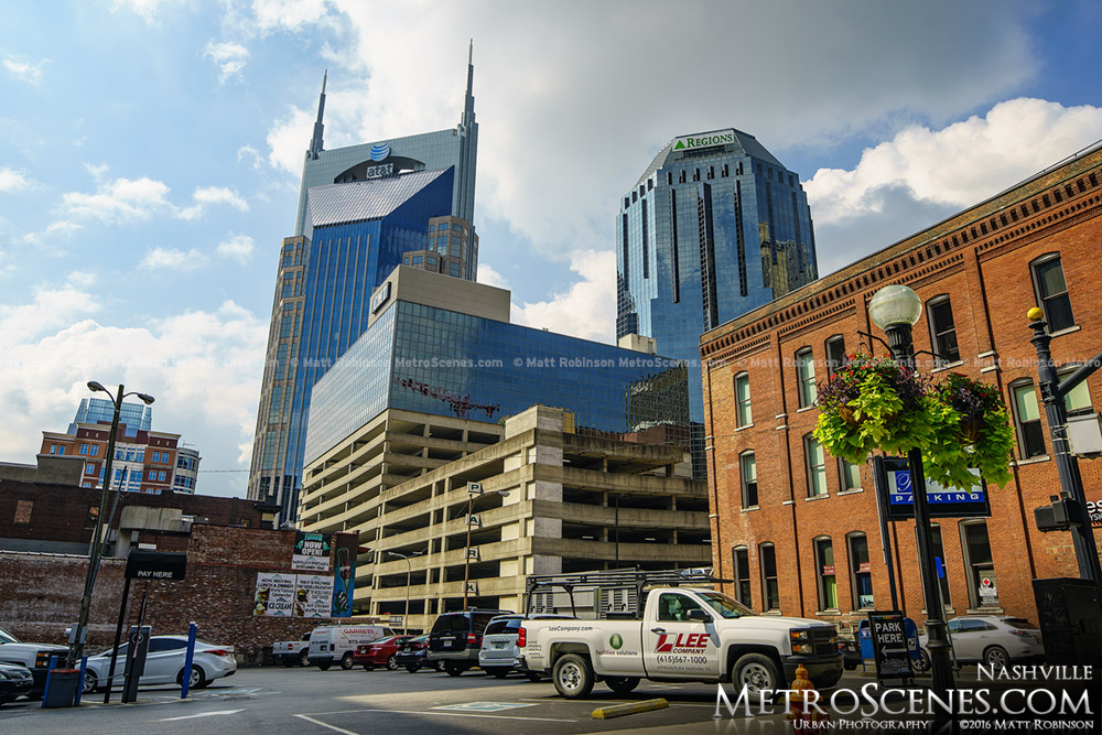 AT&T and One Nashville Place in downtown Nashville