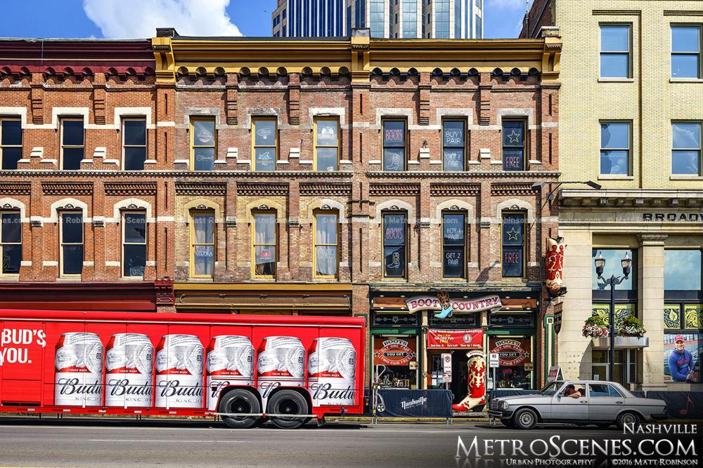 Broadway Nashville Storefronts