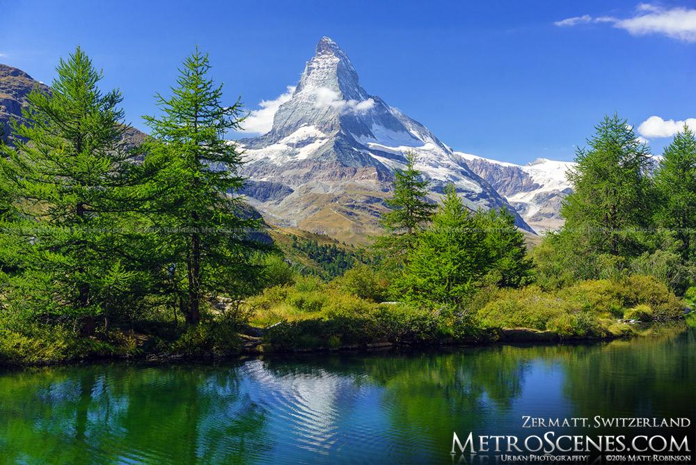 Snowcapped Matterhorn in September