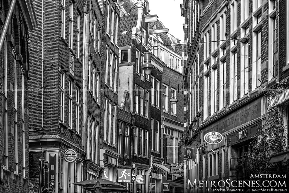 Black and White Amsterdam Buildings