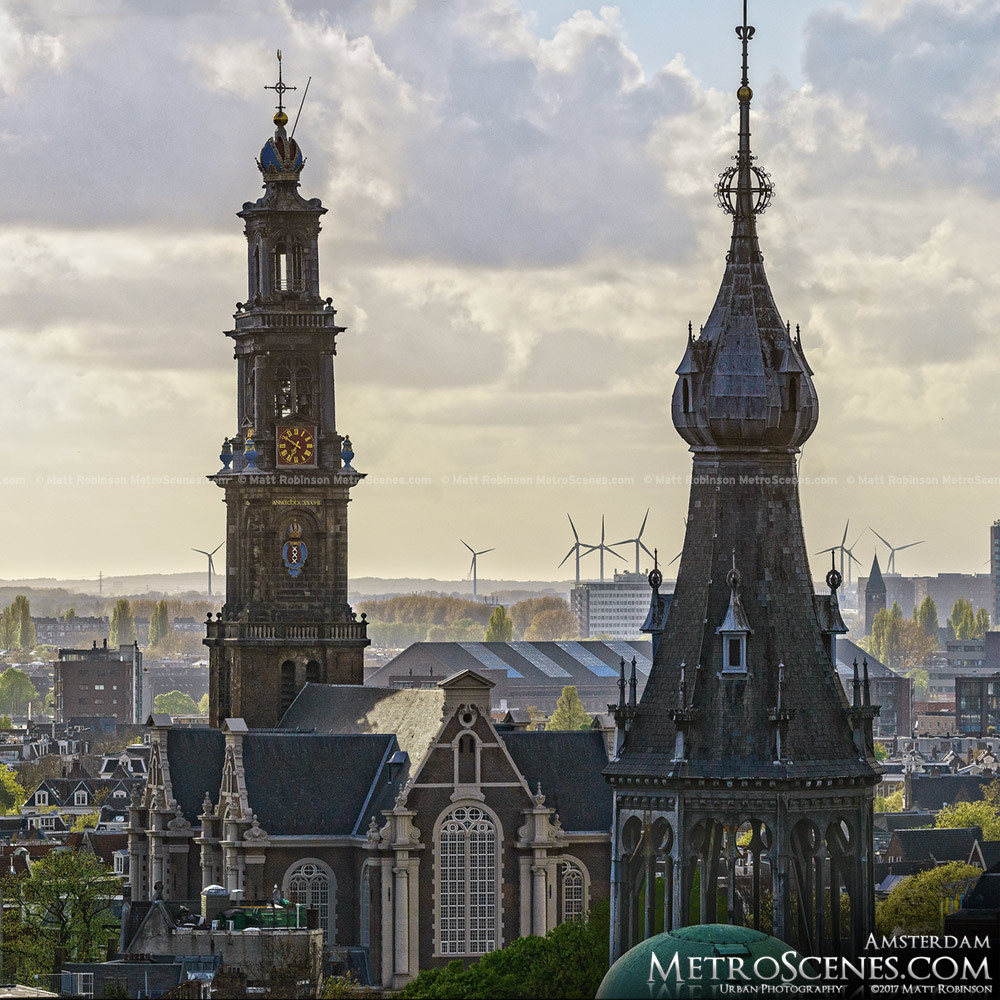 Westertoren and Magna Plaza Spire
