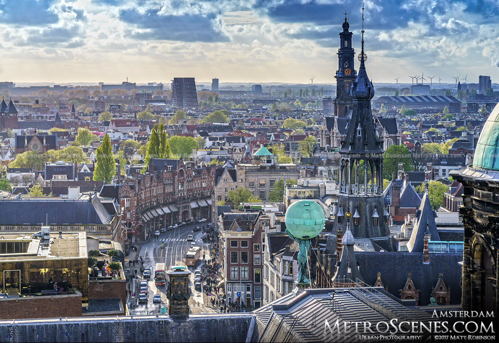 Amsterdam from the View Ferris Wheel in Dam Square
