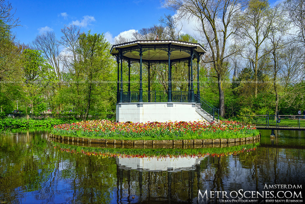 Vondelpark Gazebo with Tulips