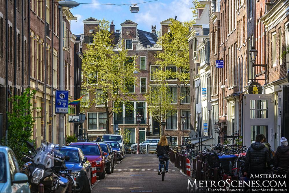 View down Kerkstraat Amsterdam