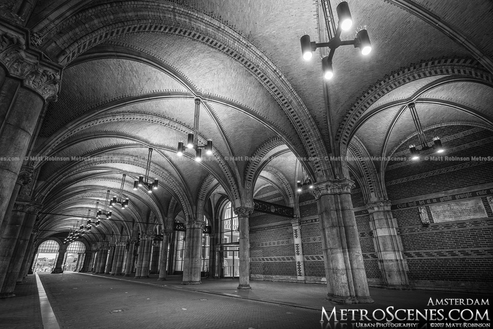 Black and White Rijksmuseum Underpass Ceiling