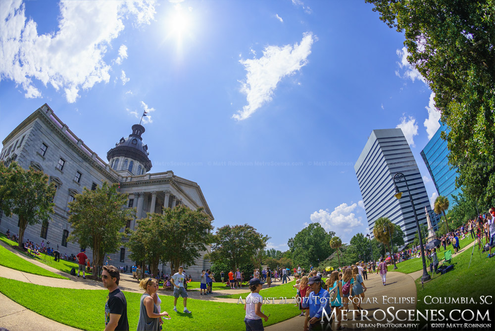 Columbia, SC Statehouse at 2:02 PM - Eclipse day