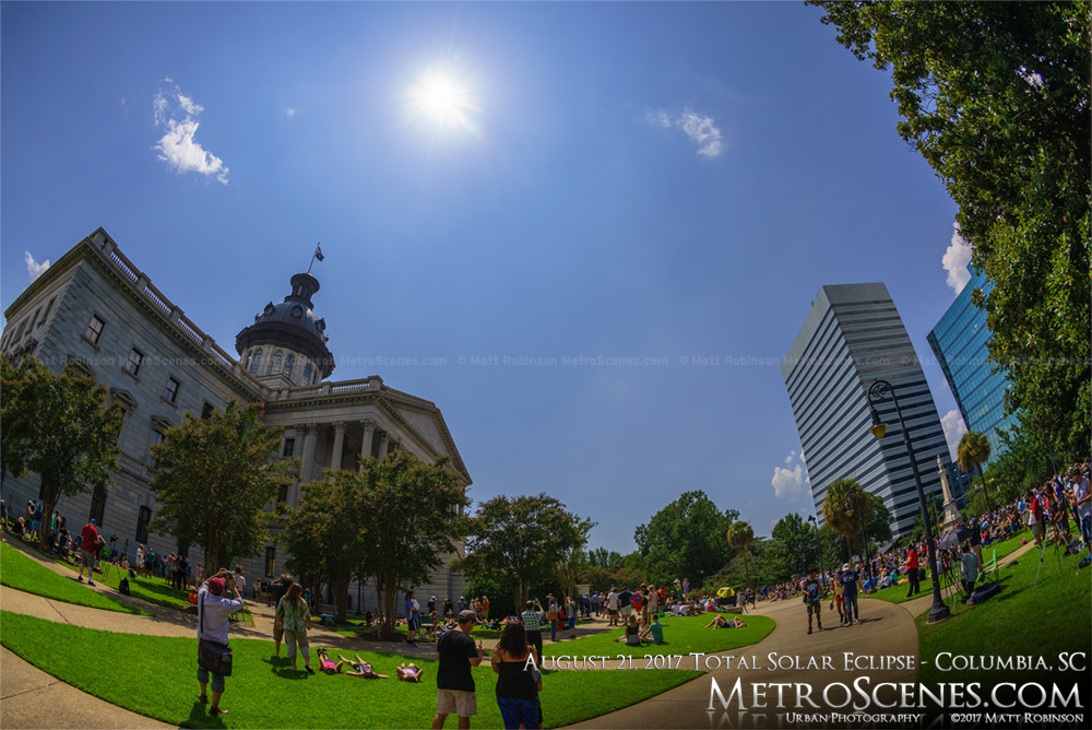 Columbia, SC Statehouse at 2:36 PM - Eclipse day