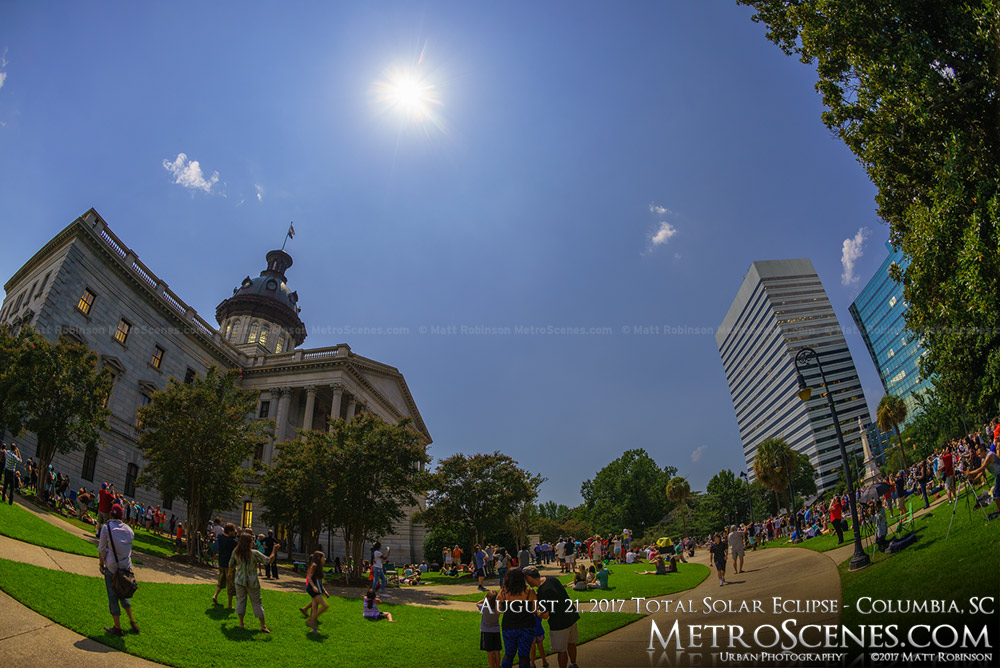 Columbia, SC Statehouse at 2:40 PM - Eclipse day