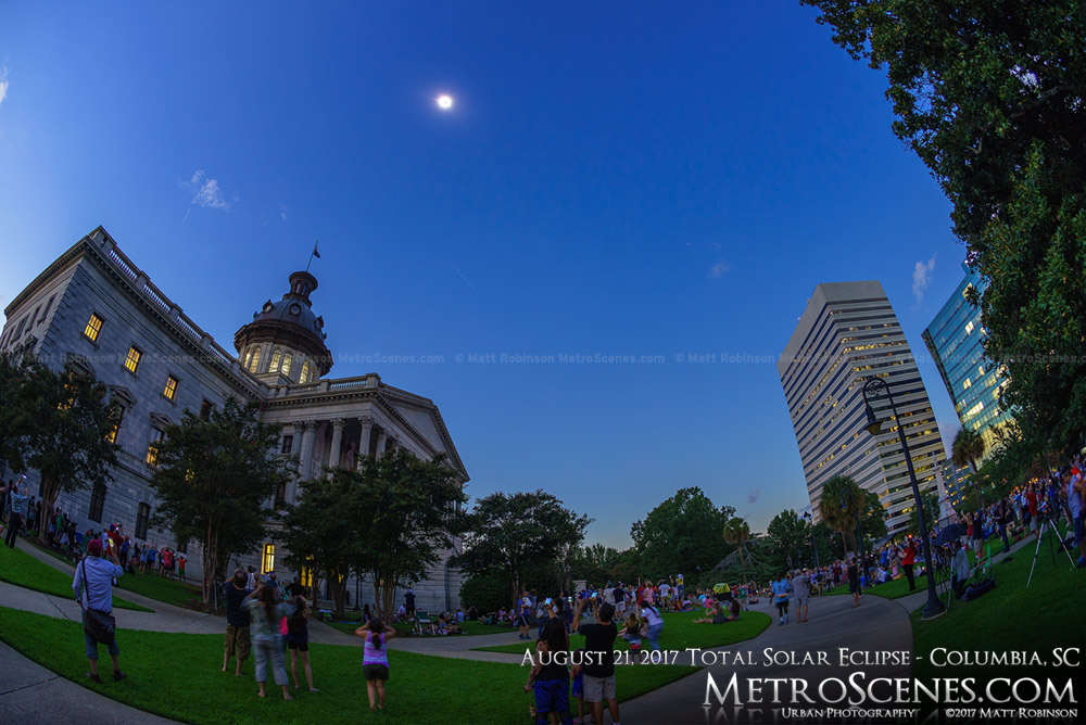 Columbia, SC Statehouse at 2:41 PM - Eclipse day