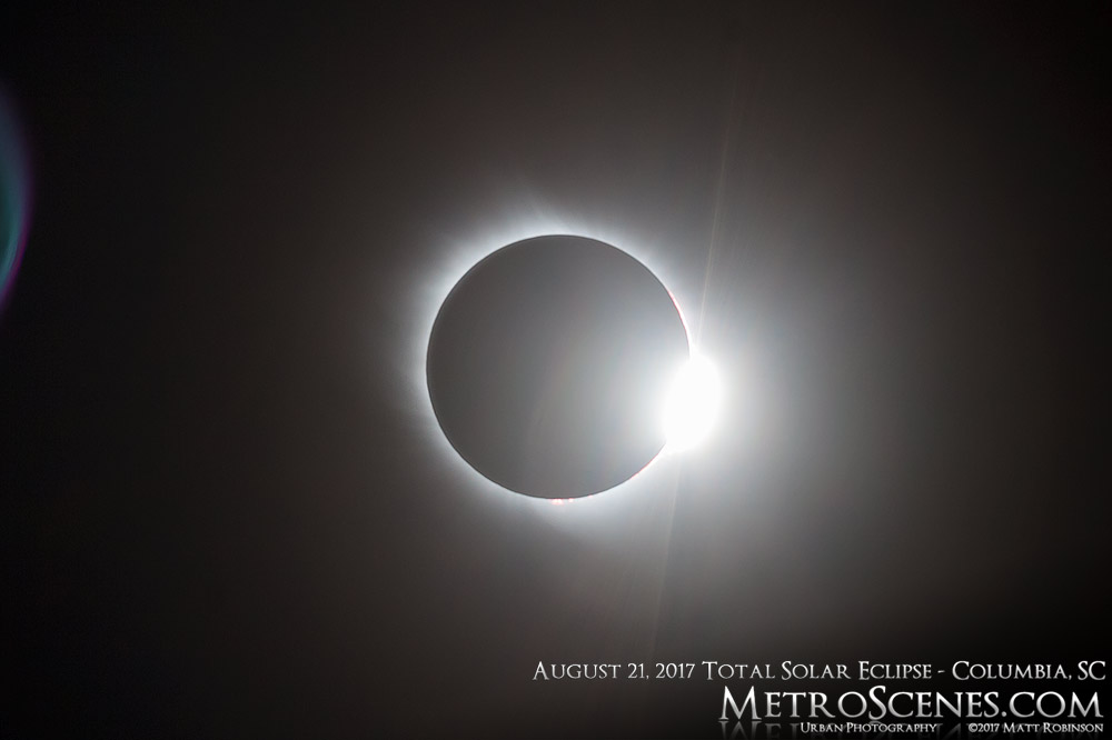 Third Contact and Diamond ring from Solar eclipse on August 21, 2017