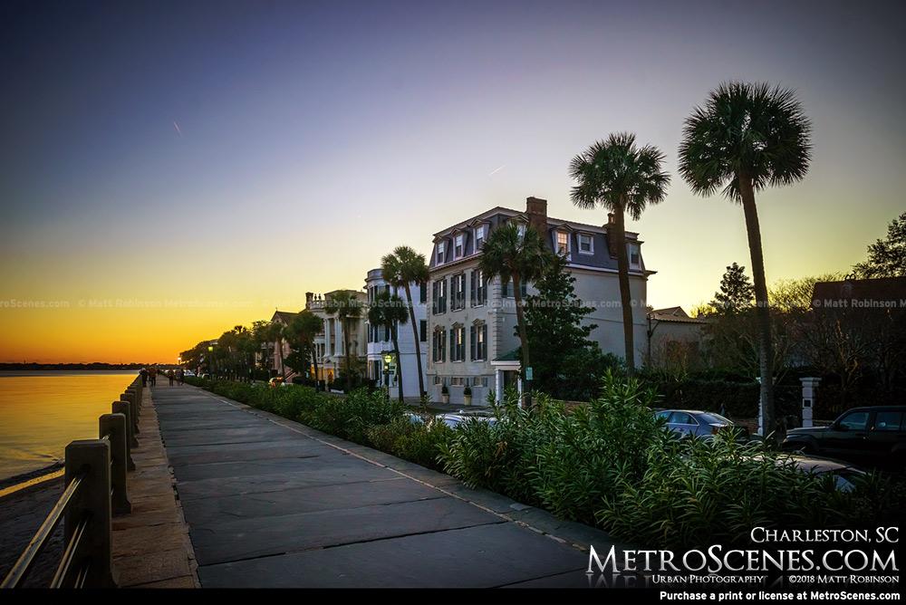 Charleston, SC after sunset