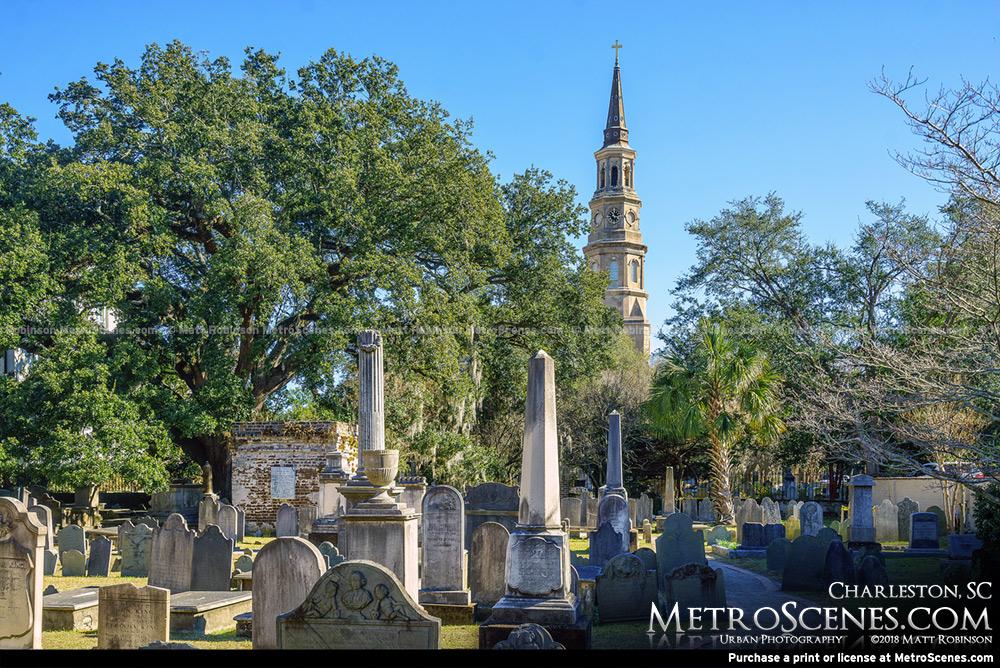 Spire and Gravestones Charleston, SC