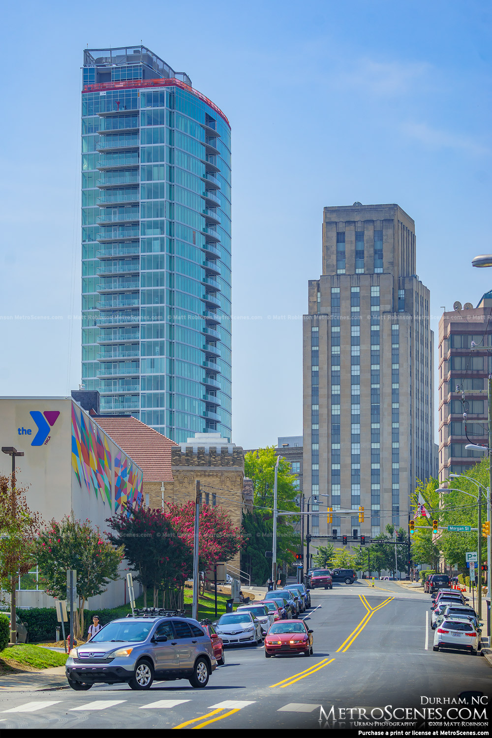 One City Center and Hill Building in Durham North Carolina