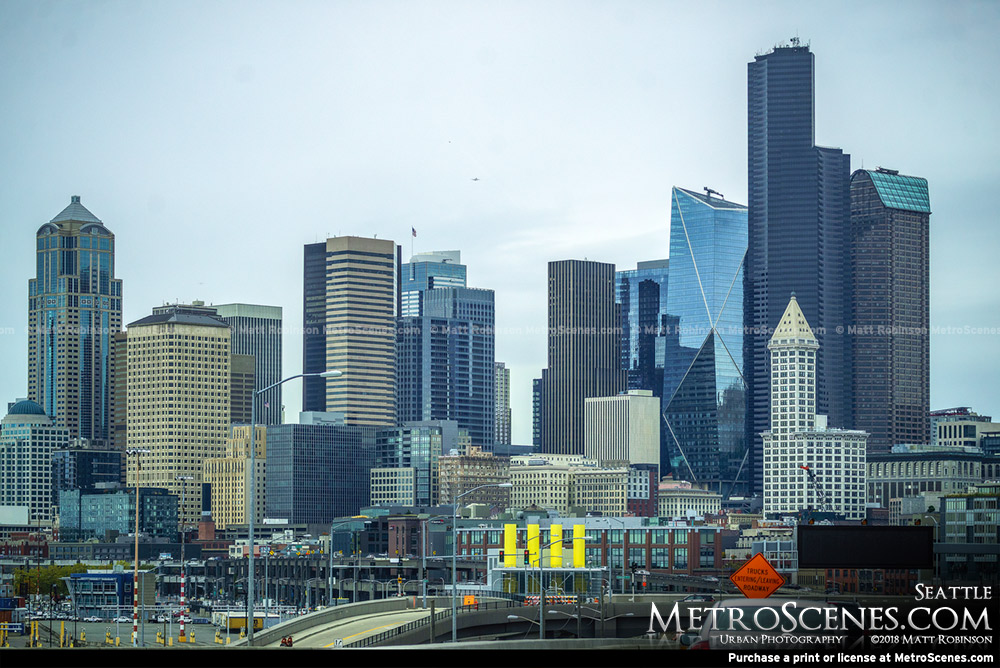 Downtown Seattle from 99