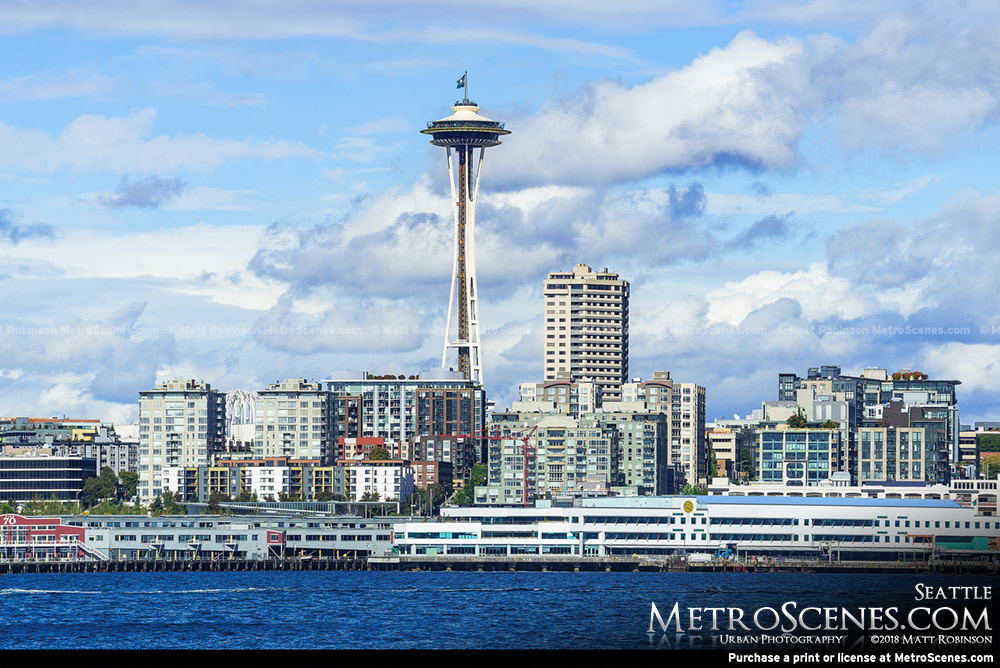 Seattle Space Needle from the Elliot Bay