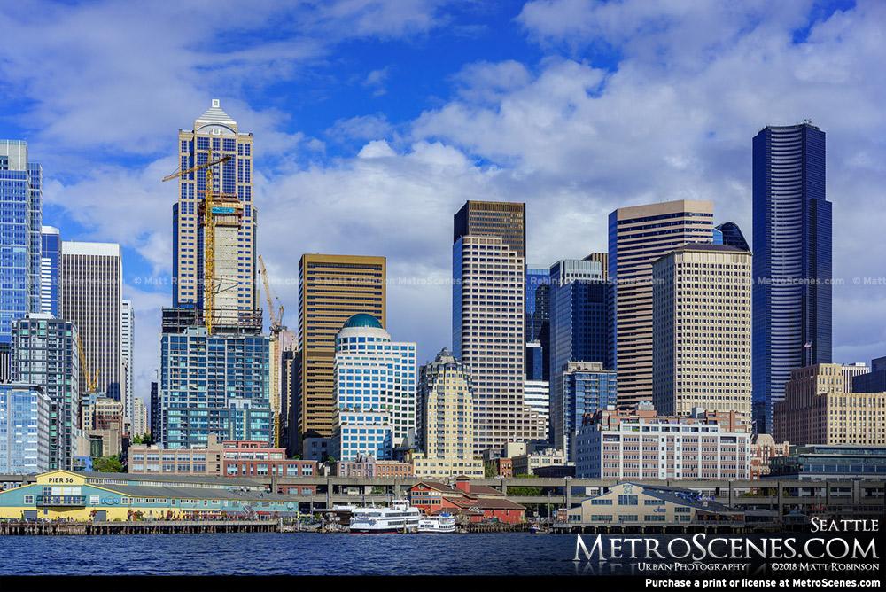 Seattle skyline from Elliot Bay