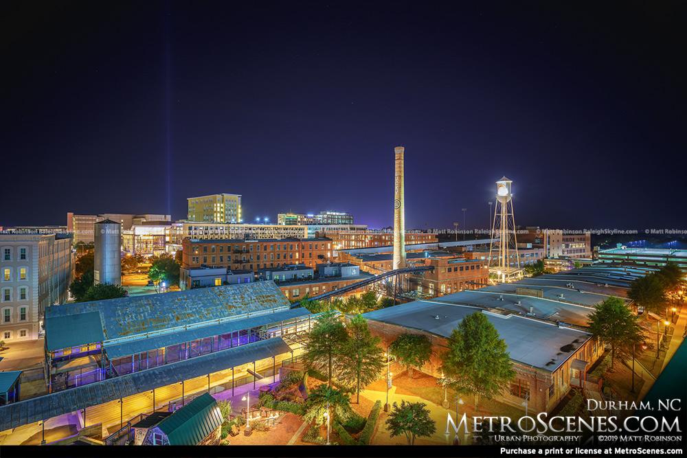 Durham North Carolina at night